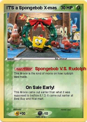 Pokemon IT'S a Spongebob X-mas
