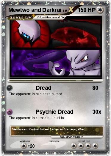 Pokemon Mewtwo and Darkrai