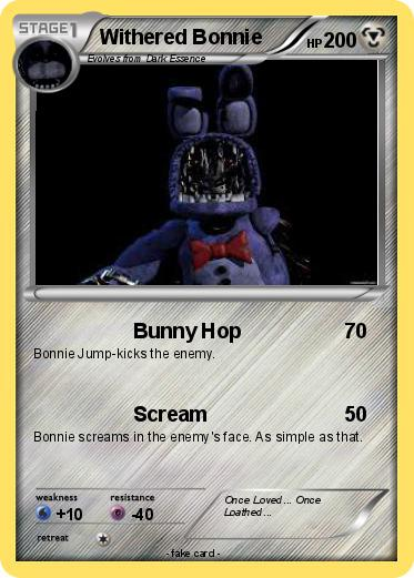 Pokemon Withered Bonnie