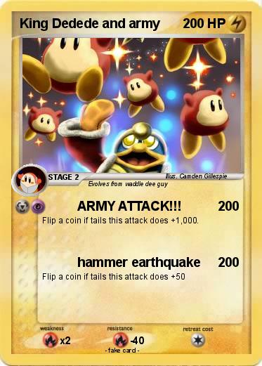 Pokemon King Dedede and army