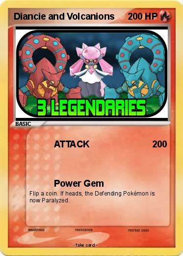 Pokemon Diancie and Volcanions