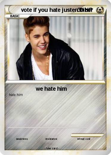Pokemon vote if you hate justen biber