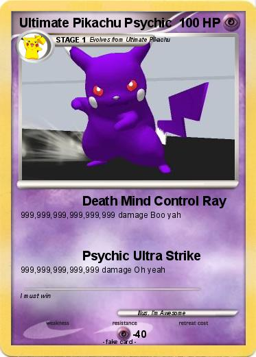 Pokemon Ultimate Pikachu Psychic