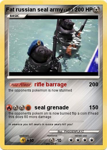 Pokemon Fat russian seal army