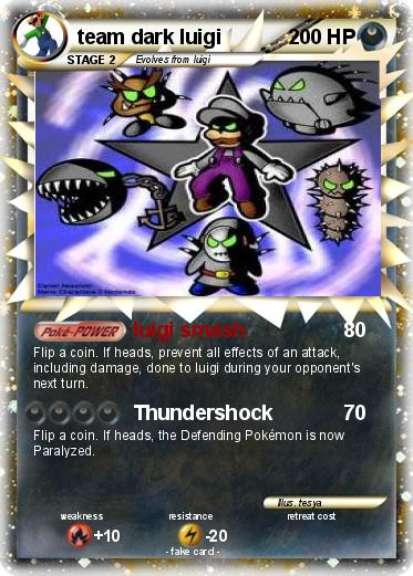 Pokemon team dark luigi