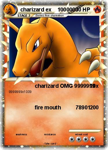 Pokemon charizard ex    1000000