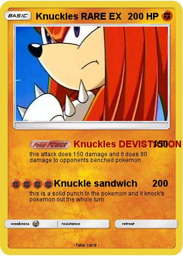 Pokemon Knuckles RARE EX