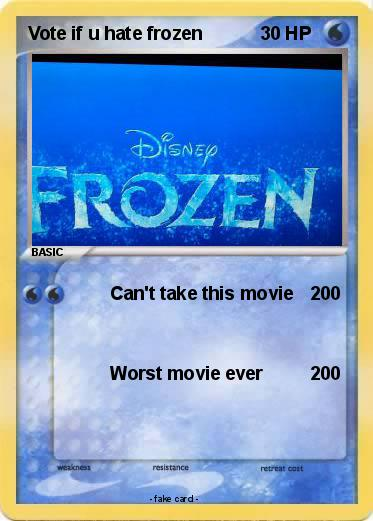 Pokemon Vote if u hate frozen