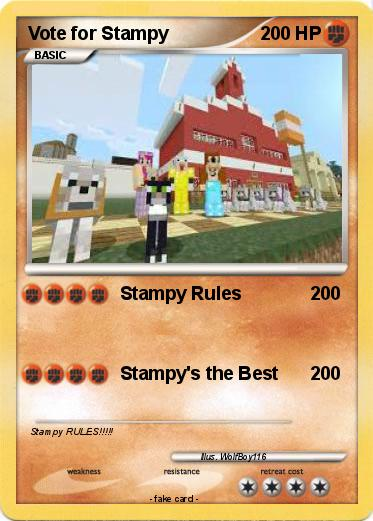 Pokemon Vote for Stampy