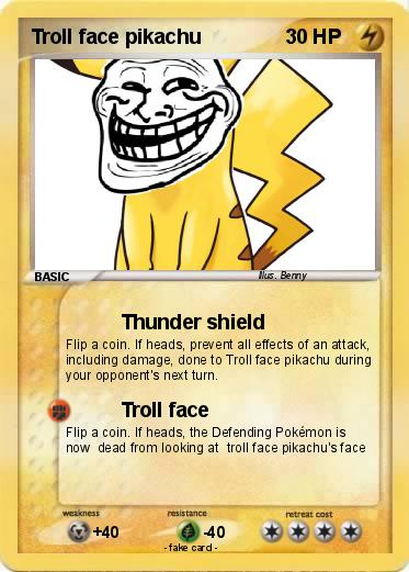 Pokemon Troll face pikachu