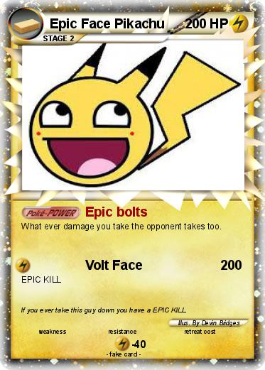 Pokemon Epic Face Pikachu