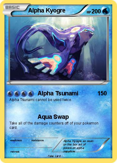Pokemon Alpha Kyogre
