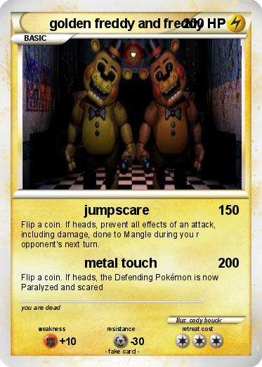 Pokemon golden freddy and freddy