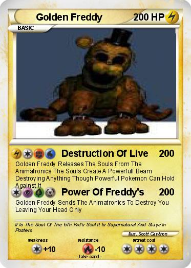 Pokemon Golden Freddy