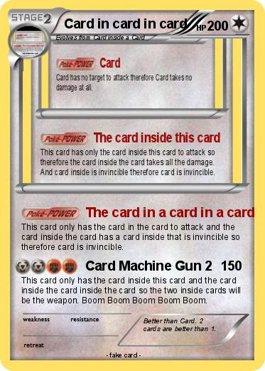 Pokemon Card in card in card