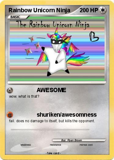 Pokemon Rainbow Unicorn Ninja