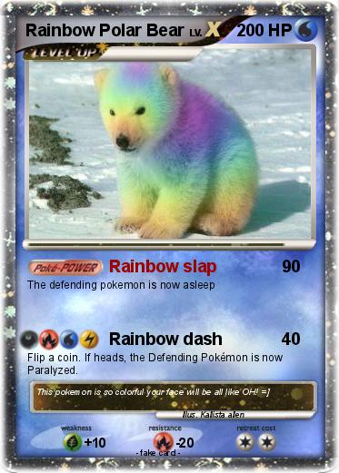 Pokemon Rainbow Polar Bear