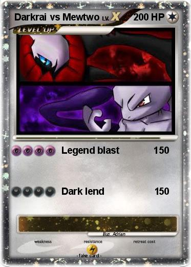 Pokemon Darkrai vs Mewtwo