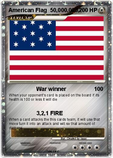 Pokemon American Flag  50,000,000,                               68