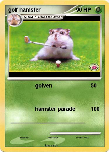 Pokemon golf hamster