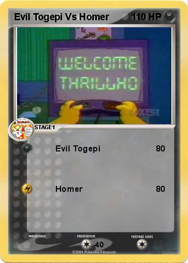 Pokemon Evil Togepi Vs Homer