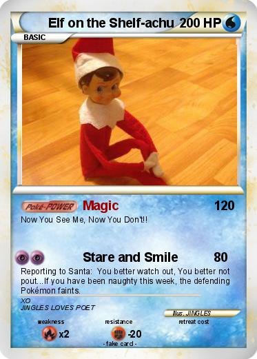Pokemon Elf on the Shelf-achu