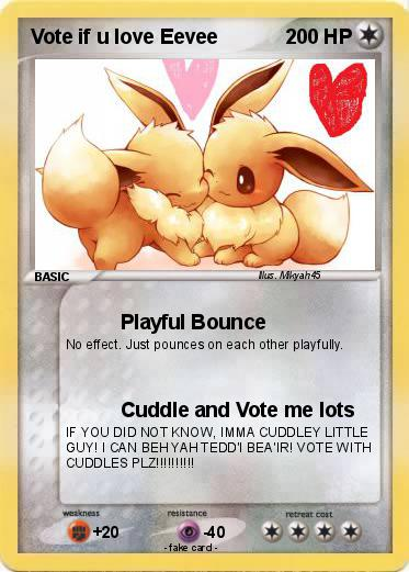 Pokemon Vote if u love Eevee