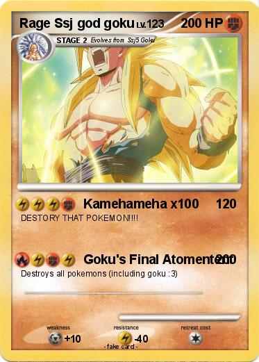 Pokemon Rage Ssj god goku