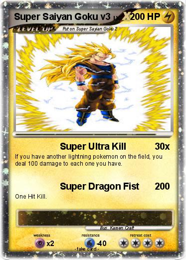 Pokemon Super Saiyan Goku v3