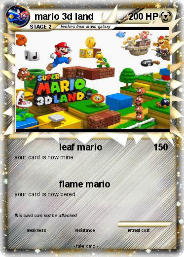 Pokemon mario 3d land