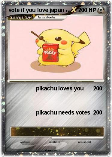 Pokemon vote if you love japan