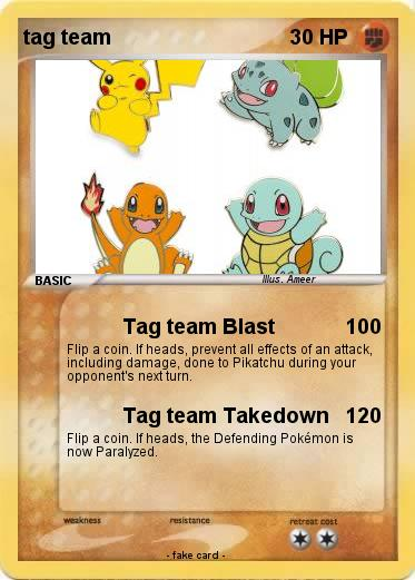 Pokemon tag team