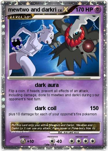 Pokemon mewtwo and darkri