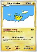 Flying pikachu