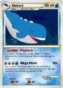 Pok mon wailord 384 384 payback my pokemon card - Carte pokemon wailord ...