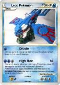 Pok mon lego pokemon 8 8 drizzle my pokemon card - Lego pokemon rayquaza ...