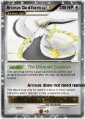 Arceus God form