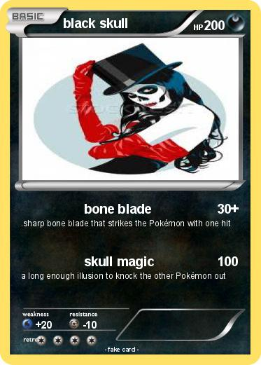 Pokemon black skull