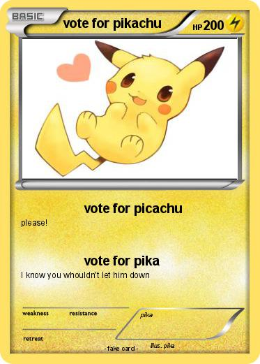 Pokemon vote for pikachu