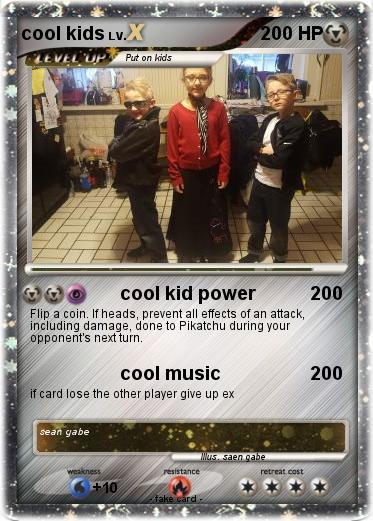 Pokemon cool kids