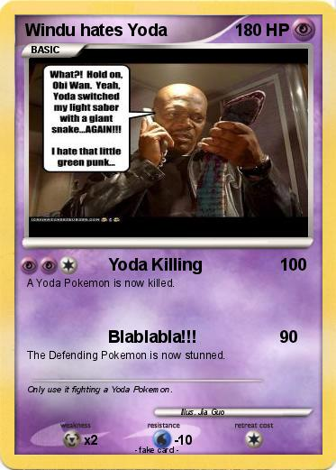 Pokemon Windu hates Yoda