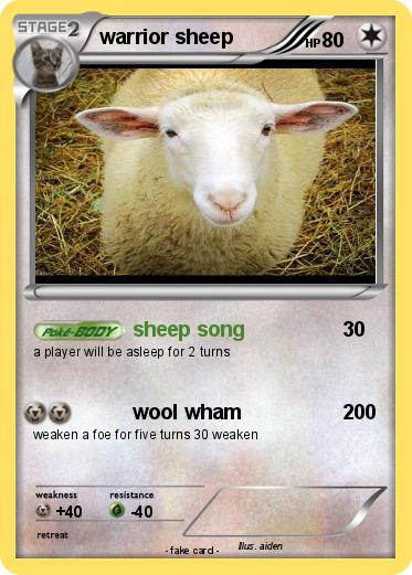 Pokemon warrior sheep