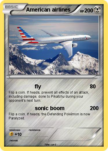 Pokemon American airlines