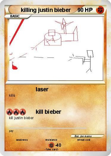Pokemon killing justin bieber
