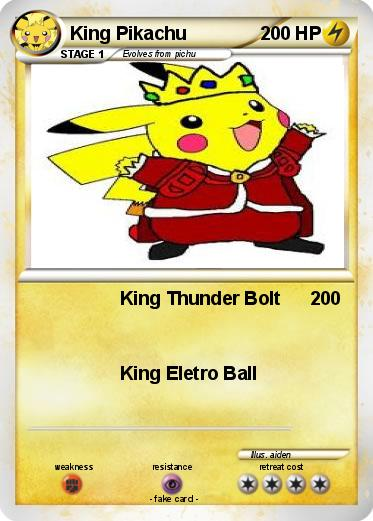Pokemon King Pikachu