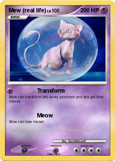 Pokemon Mew (real life)