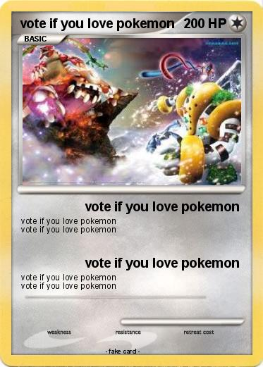 Pokemon vote if you love pokemon