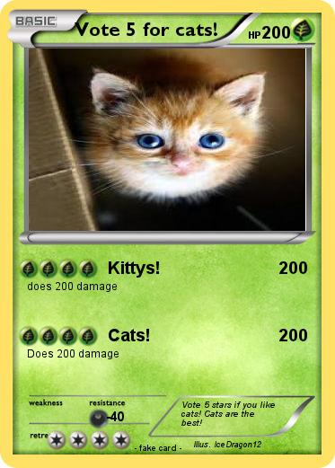 Pokemon Vote 5 for cats!