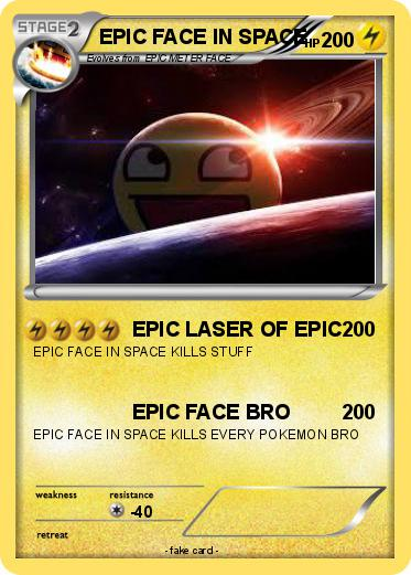 Pokemon EPIC FACE IN SPACE