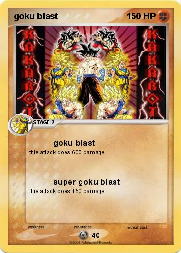 Pokemon goku blast